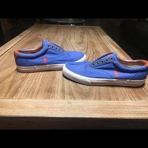 Ralph Lauren Royal Blue and Orange Gym Shoes